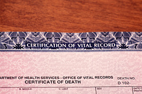 Death Certificate - Probate
