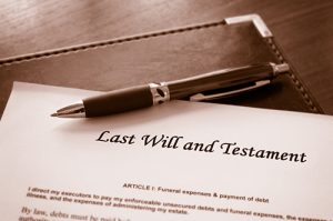 Last Will and testament estate plan
