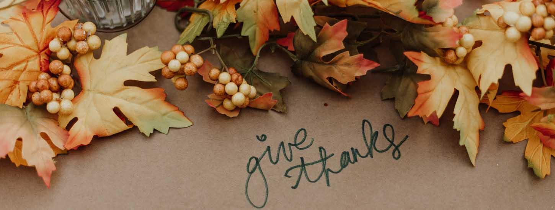 Giving Thanks and Charitable Giving